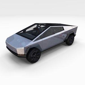 tesla cybertruck battery 3D model