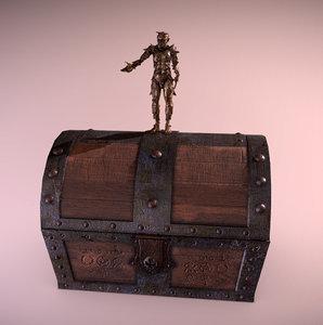 3D fantasy chest model