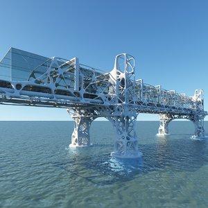futuristic bridge model