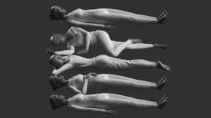 3D woman mannequin poses model