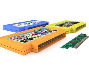 cartridge dendy 3D