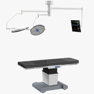 operating table ceiling lights 3D model
