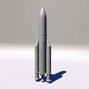 european ariane 5 rocket 3D