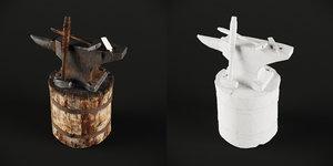 3D blacksmith set model