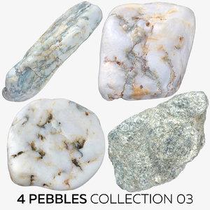 4 pebbles 03 3D model