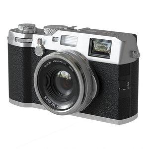 3D compact premium fujifilm x100f model