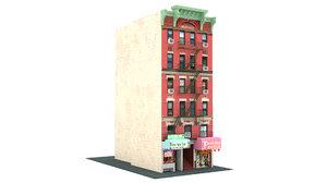 chinatown shop building new york 3D model