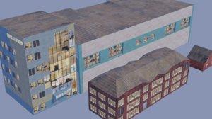- pack russian buildings 3D