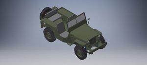 3D jeep car