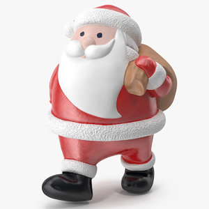 3D santa claus decorative figurine model