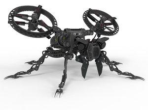 3D robot wasp bot