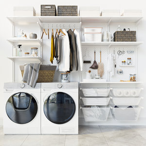 3D washing machine laundry set