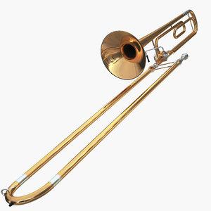 trombone music instrument 3D model