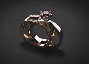 jewellery collapsible ring stones model