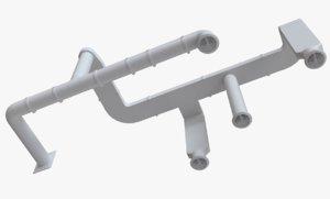 3D ventilation 204x60 project model