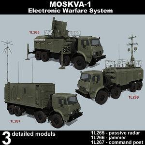 3D model moskva-1 russian electronic