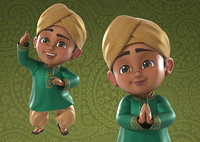 Indian / Arabic Boy 3d Model Rigged