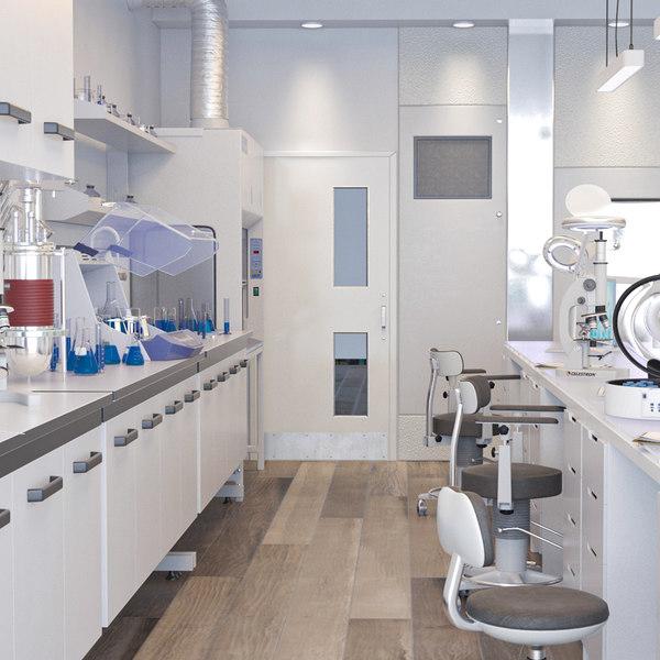 3D model scientific laboratory 2