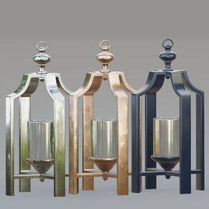3D lantern steel copper