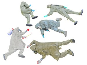 3D dead soldiers chemical attack model
