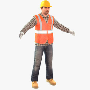 3D construction worker standard 2020