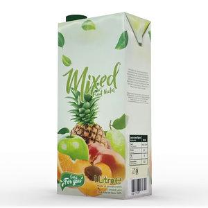 3D mix juice carton