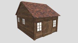 wood cabin 3D model