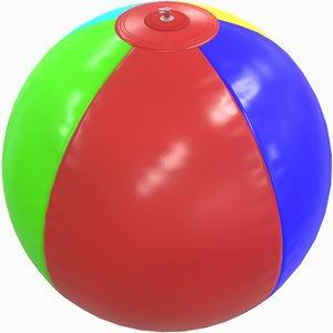 3D inflatable beach ball