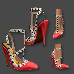 studded stilettos model