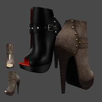 Leaver High Heels Shoes