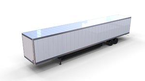 3D box semi trailer