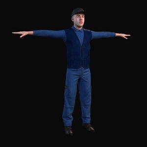 warehouse workman 3D