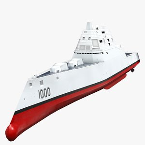 uss ddg-1000 zumwalt destroyer 3D model