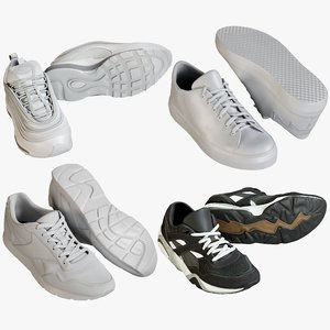 realistic sneakers 14 3D
