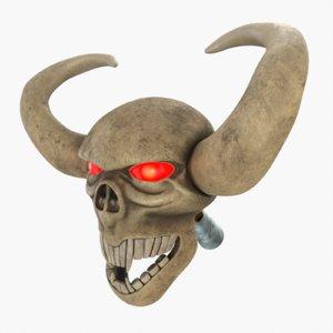 skull wand model