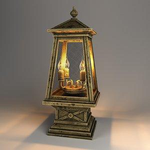 table lamp lights v-ray 3D