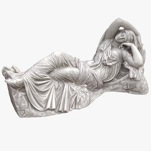 3D model sleeping ariadne