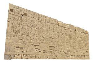 temple wall 3D model