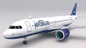 jetblue a320 neo 3D model