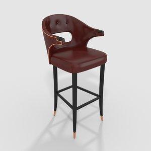 3D brabbu nanook bar stool model