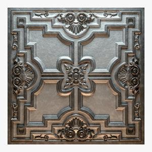 old tin tiles model