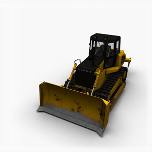 3D model crawler bulldozer dozer
