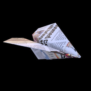 3D origami paper airplane