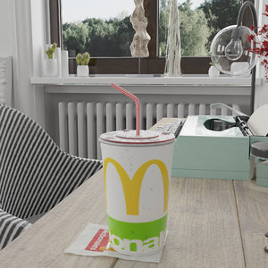 photorealistic mcdonalds cup 3D model