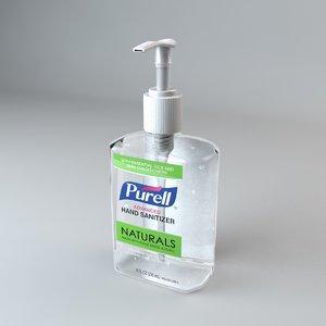 purell hand sanitizer bottle 3D model