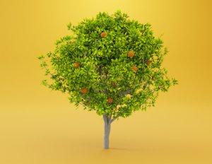 orange tree 3D