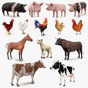 3D farm animals big 2