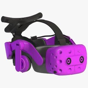 vr helmet emissive 3D model