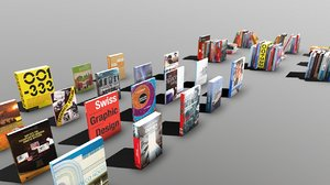 books vr ar 3D model