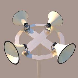 speaker horn 3D model